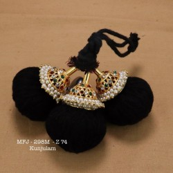 Multi Stoned Falls Hair Design Kunjalam Temple&Dance Jewellery Set By Online