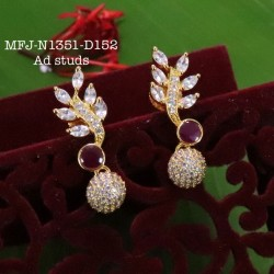 Ruby,Emerald Stoned With Pearls lakshmi&Flower Jumka Design  Matte Finish Set Buy Online
