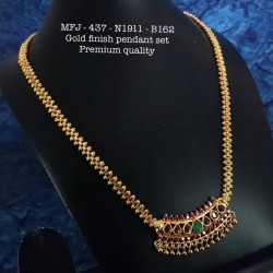 Premium Quality Ad Stoned Golden Balls Chain With Pendent Design Gold Finish Pendent Set Buy Online