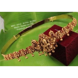 Ruby&Emerald Stones With Pearls Lakshmi& Peacock Design Matte Finish Hip Belt For Free Size Buy Online