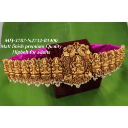 Premium Quality Ruby&Emerald Stones With Pearls Peacock&lakshmi Design Matte Finish Hip Belt Free Sized Set Buy Online