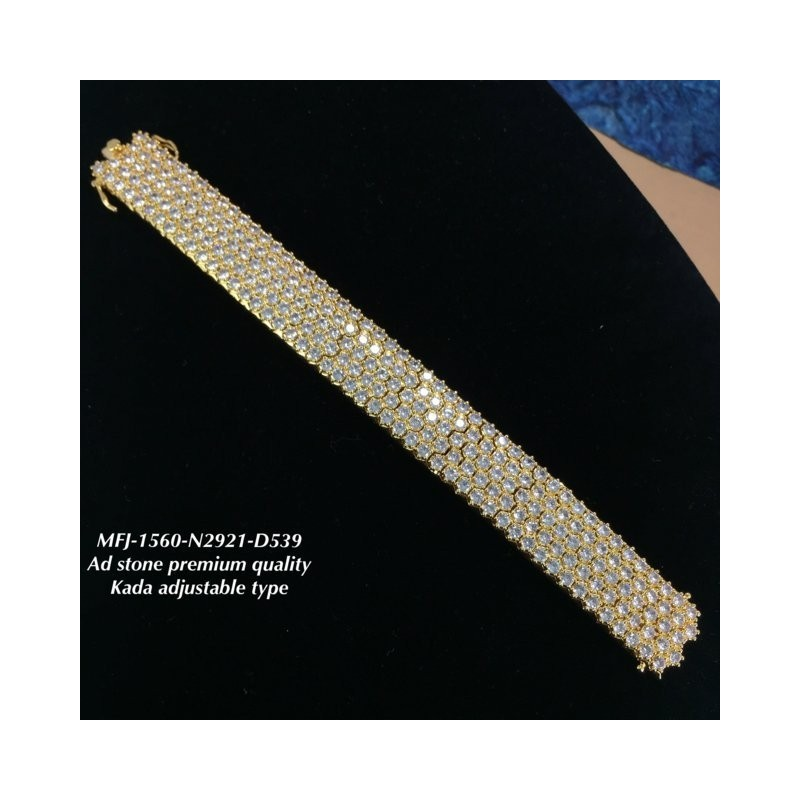 Premium Quality Ruby Stoned Design Gold Plated Finish Kada Adjustble Bracelet Buy Online