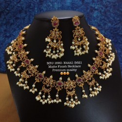 Cz,Ruby Stones With Pearls...