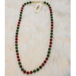 4mm Red & Green Jade Beads