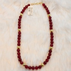8mm Red Jade Beads