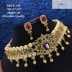 CZ,Ruby Stones With Two...