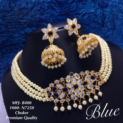 CZ,Blue Stones With Three...