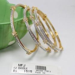 2.4 size Zircon, ruby & emerald stone bangles