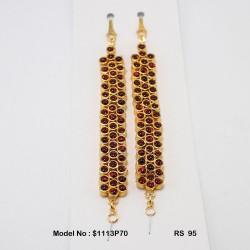 Temple Kempu Stone Pendant Dance Jewellery Online