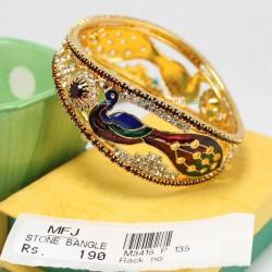 2.4 Size AD Stone Peacock Designer Single Bangle Online