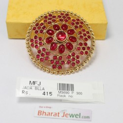 Kempu Stone 5 Step Temple Head Set Bharatanatyam Jewellery Online