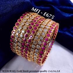2.4 Size 8 Bangles Gold...