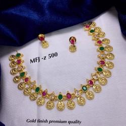 Gold Finish Multi Stones...