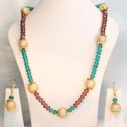 crystal beads & Pearls Chain