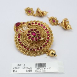 Antique Pendant With Kempu Stones Online