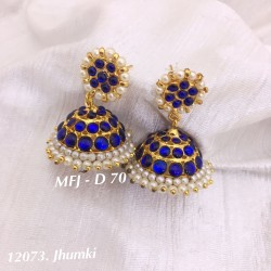 Blue Stones With Pearls...