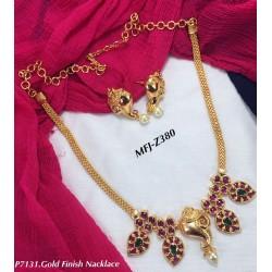 Gold Finish Emerald&Ruby...