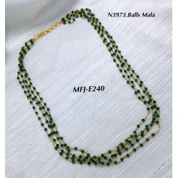 4 Layer Green Crystal Beads...