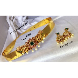 Gold Finish Ruby&Emerald...