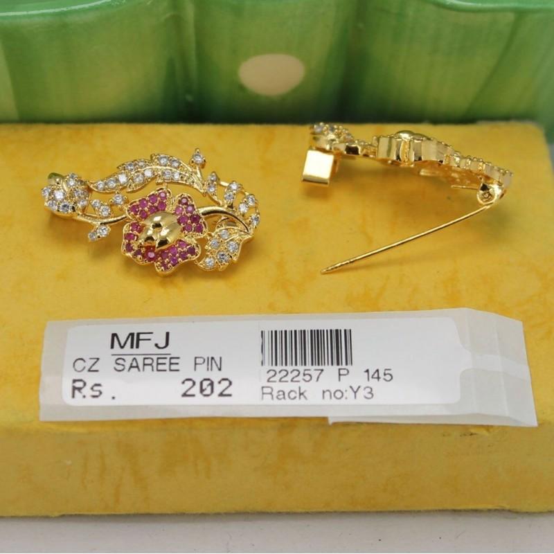 CZ, Ruby & Emerald Stones Kunjalam End of Hair Paranda -Temple Jewellery -Dance Jewellery Online