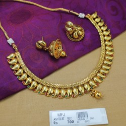 Kempu Stones Mango Design Antique Necklace Set Online