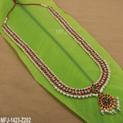 Kempu Stones Traditional Design Necklace - Temple Necklace - Dance Jewellery Buy Online