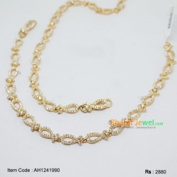 10.5 inches CZ Stone Anklet
