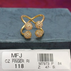 CZ Stones Peacock, Flowers & Leaves Design Gold Plated Finish Side Pendant (mogappu) Buy Online