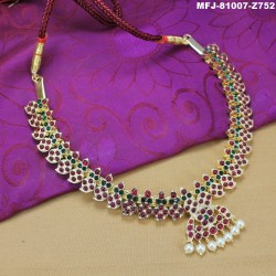 High Quality Kempu Stones Traditional Necklace - Temple Necklace - Dance Jewellery Buy Online
