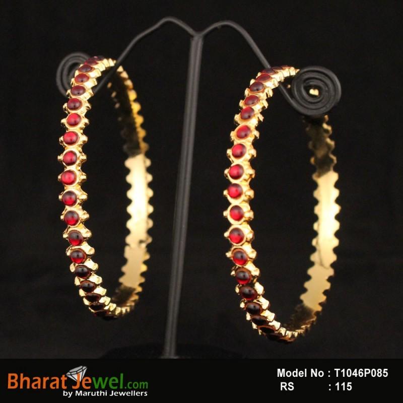 2.4 Size Kempu Stone Bangle Online