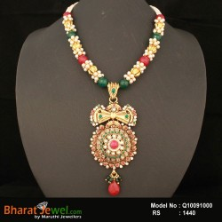 Multi Colour Semi Precious Beads& Antique Pendant Online