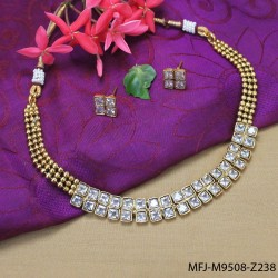 Balls Design With Pearls Drops Antic Necklace Set Buy Online