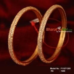 2.4 Size Cz Stone Designer Bangle Online